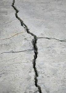 Crack in Concrete Driveway