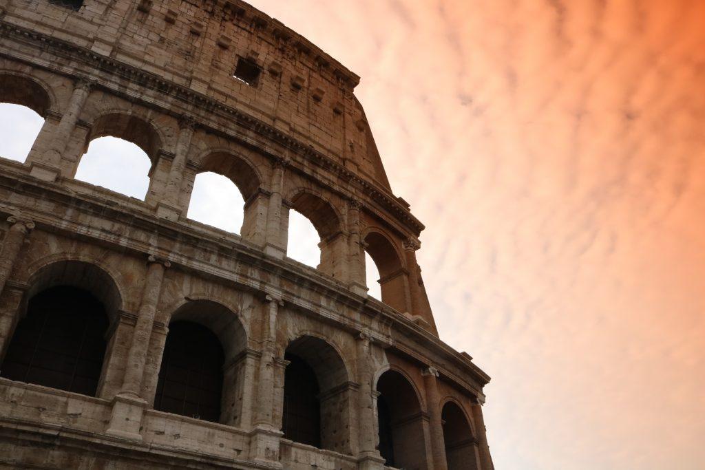 Roman Colosseum concrete structure